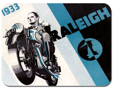 Raleigh Motorcycle Mouse Mat Motorbike Biker Mouse pad
